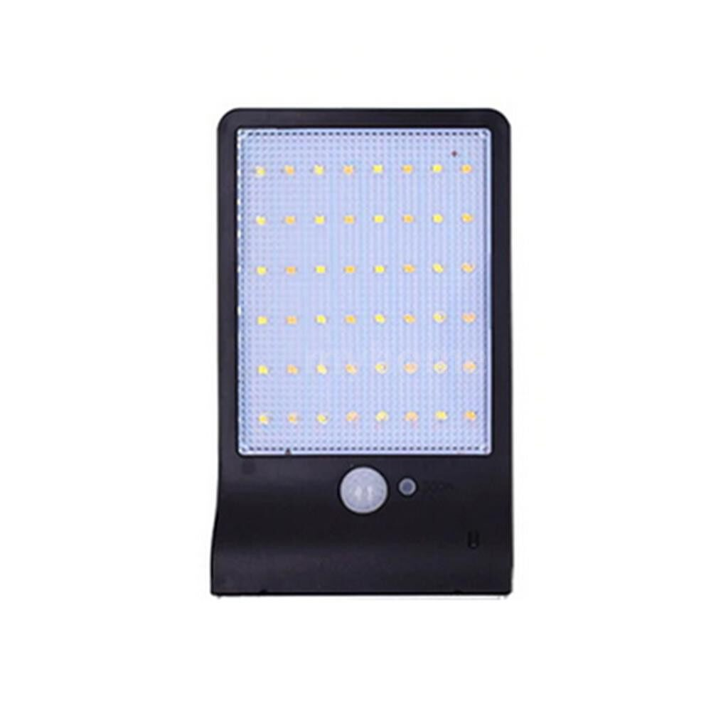 Outdoor Lighting - 48 LEDs Solar Powered Wall Light PIR Motion Sensor with Remote Control Outdoor IP65 Water-resistant - BLACK-48LEDS NO POLE / WHITE-48LEDS NO POLE / WHITE48LEDS WITHPOLE / BLACK48LED WITH POLE / BLACK36LED WITH POLE