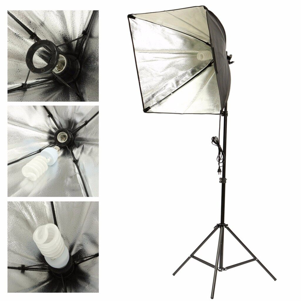 Lighting and Studio Equipment - Photo Studio Photography Continuous Lighting Soft box Light Stand Bulb Kit SET - Camera Accessories