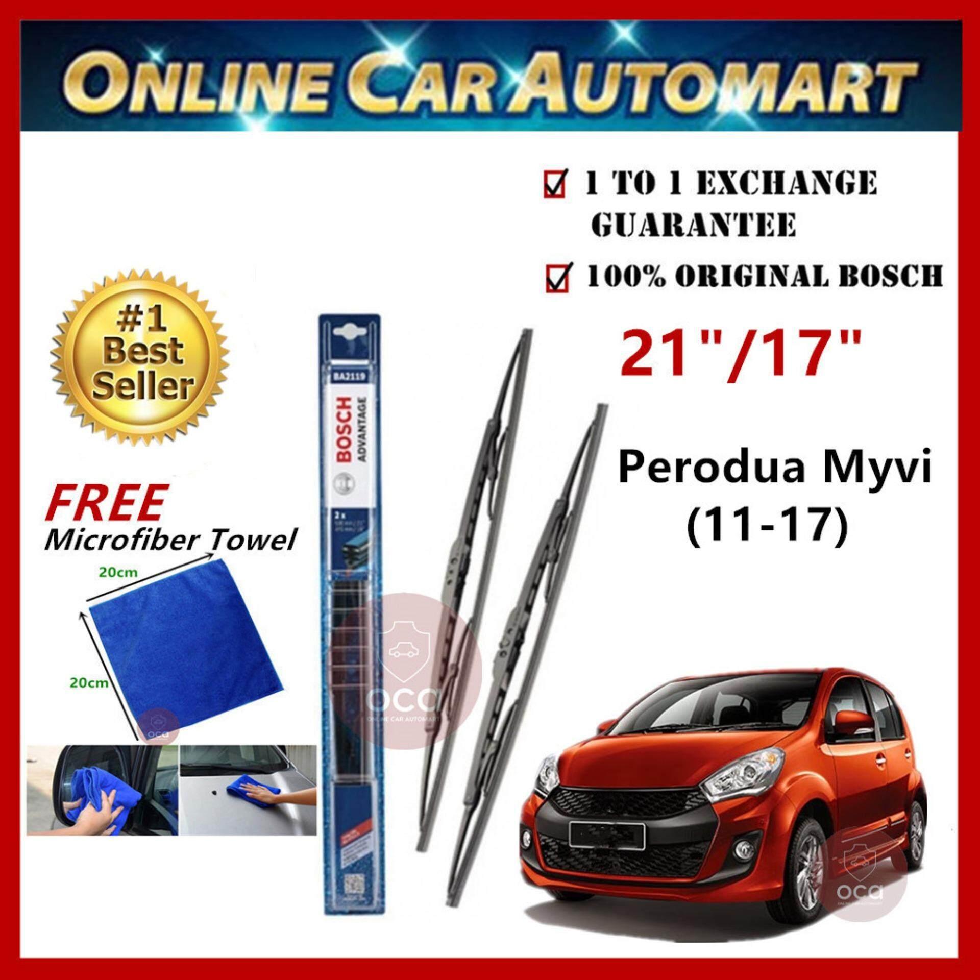Bosch Advantage BA2017 Wiper Blade 20\'\'/17\'\' (Set) for Perodua Myvi Lagi Best/Icon 2011-2017