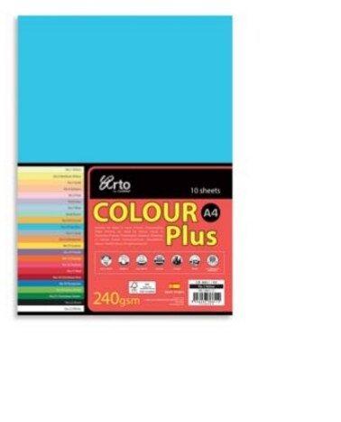 CAMPAP-ARTO 240gms A4 10's COLOUR CARD x 3pkts BLUE