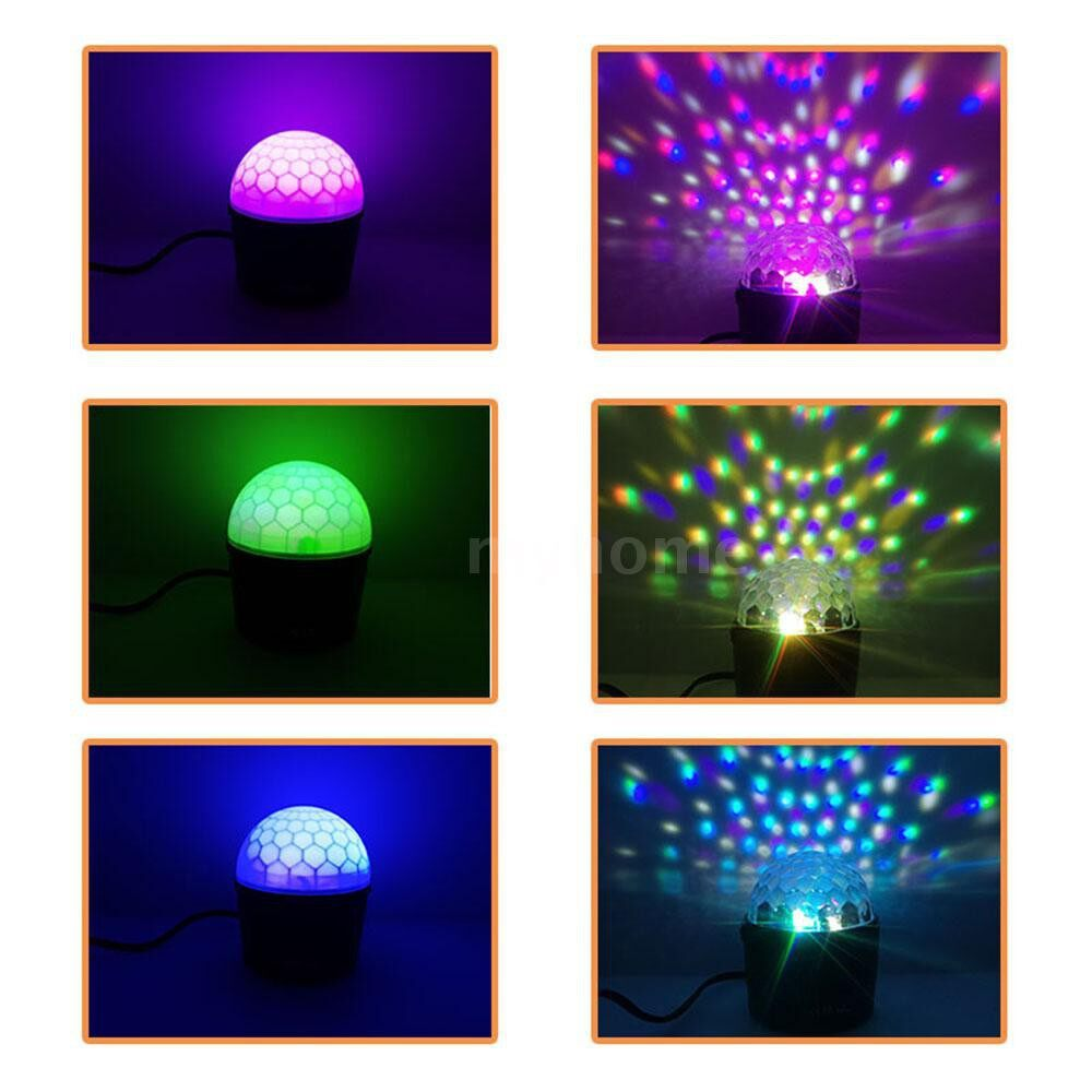 Lighting - AC100V-240V 7W MINI LEDs 6-Color Magic Ball Stage Light Night Lamp Two-in-One Multifunction - Home & Living