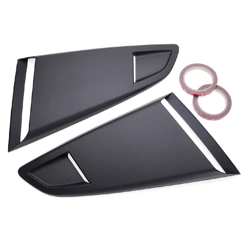 Automotive Tools & Equipment - Unpainted Rear Window Louver Side Vent Scoop Cover Vent For Ford Mustang 15-18 - Car Replacement Parts