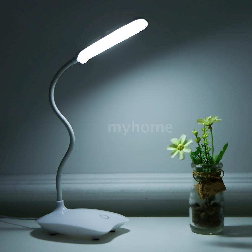 Table Lamps - ULTRAlight LED Desk Night Lamp 360 Flexible Rotatable Touching Control 3 Level Dimmable USB - #
