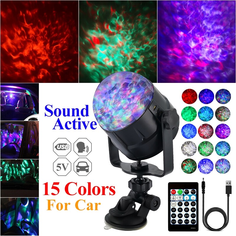 Car Lights - 15 Colors USB Party Lights + Laser Disco Ball Dj Lights LED Stage Light Projector Strobe lights - Replacement Parts
