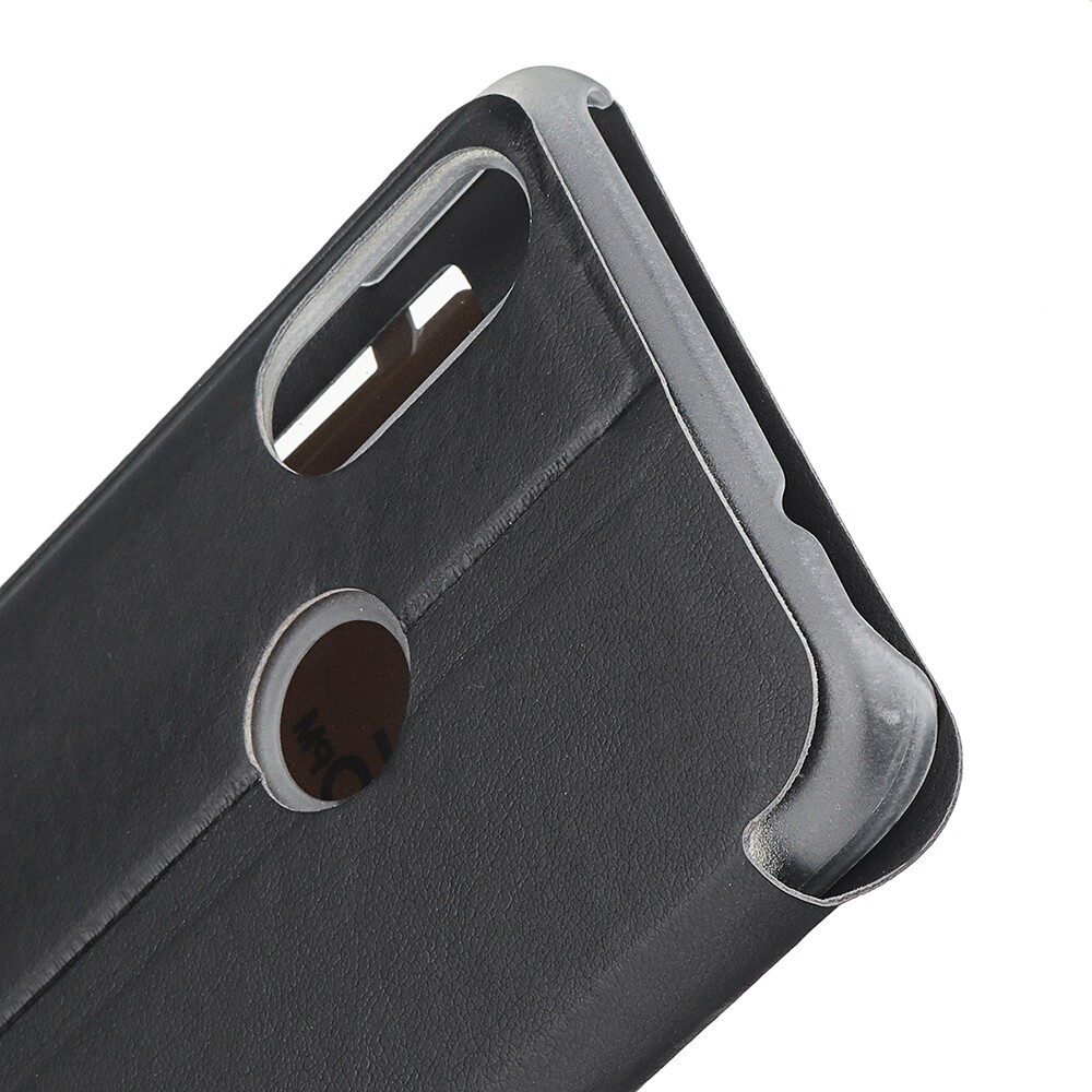 iPh Soft Cover - Luxury Flip with Window PU Leather Full Body Protective Case for Xiaomi Redmi 7 / Redmi Y3 - GOLD / BLACK
