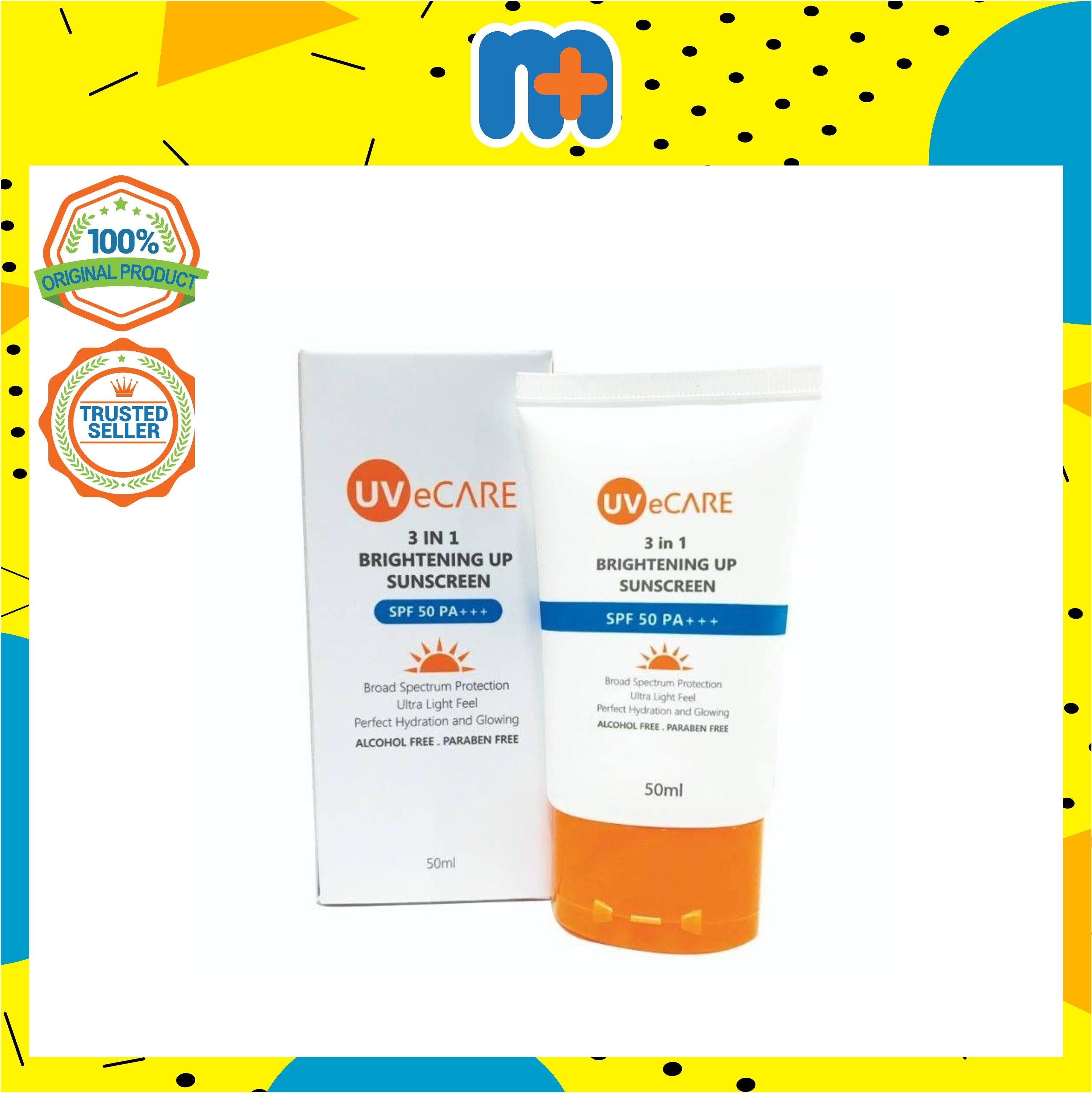 [MPLUS] UVeCARE 3in1 Brightening up Sunscreen 50ml