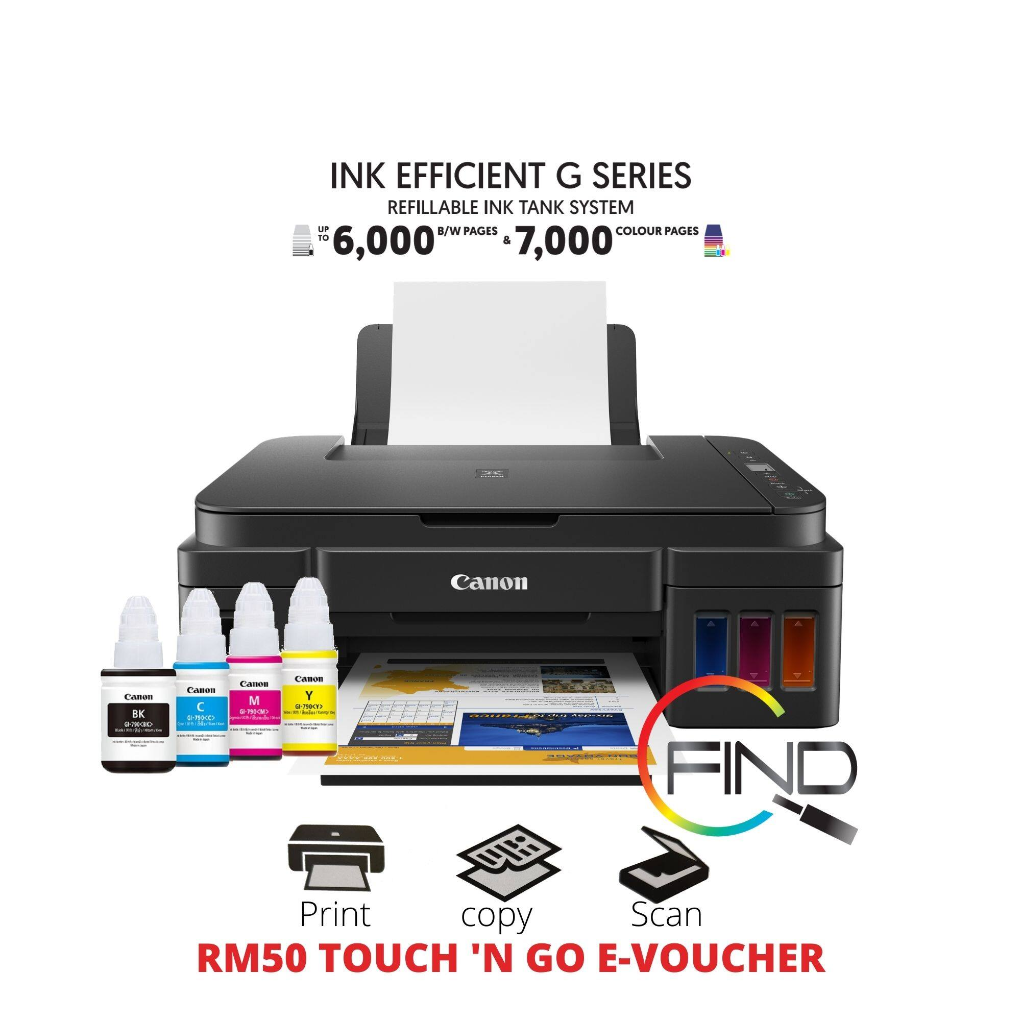 CANON PIXMA G2010 AIO ALL-IN-ONE (PRINT/SCAN/COPY) REFILLABLE INK TANK SYSTEM PRINTER (NOT SUPPORT MAC PC)