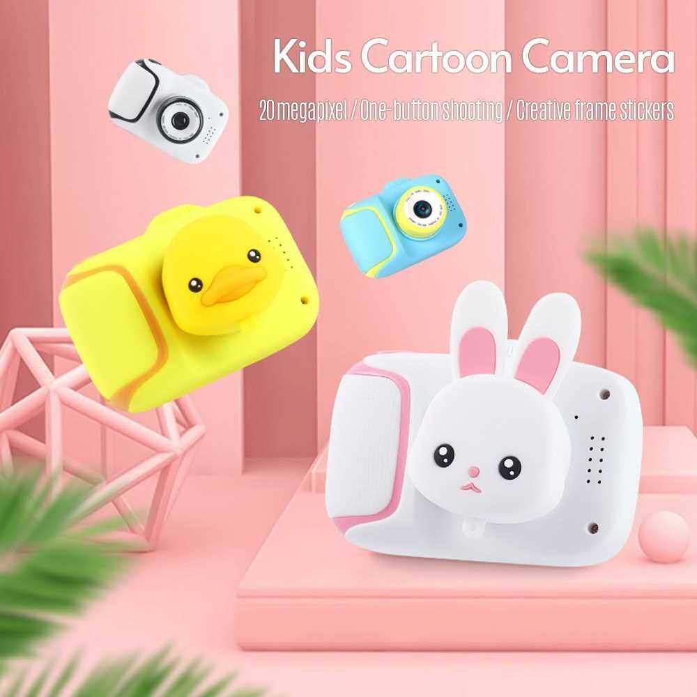 Mini Kids Camera 1080P 20 Megapixel High Definition Camera with 2.0 Inch Large Screen Cute Cartoon Animal Appearance for Children Boys Girls (Blue)