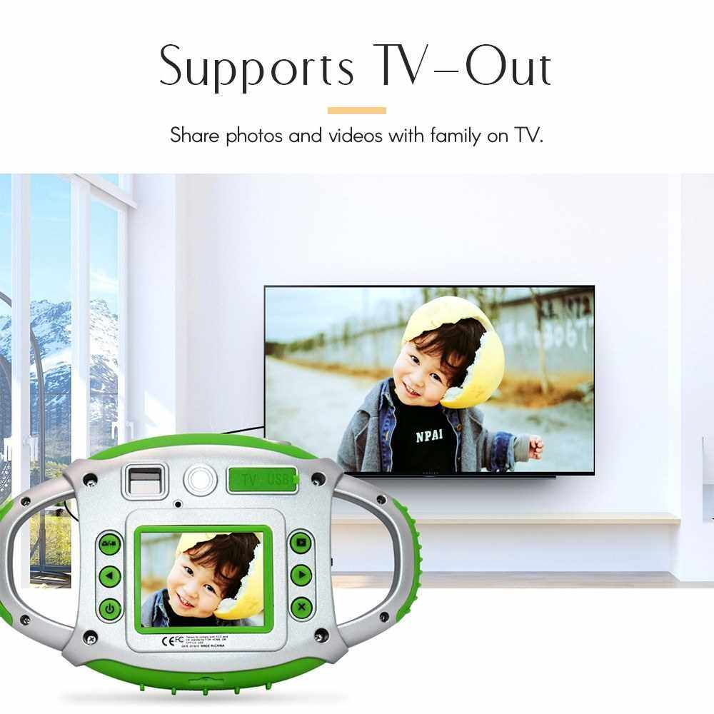 Kids Digital Camera 8MP Photo 1080P Video 2.0 Inch IPS Screen Built-in Lithium Battery with Lanyard USB Charging Cable Birthday Festival Gift for Children Boys Girls (Green)