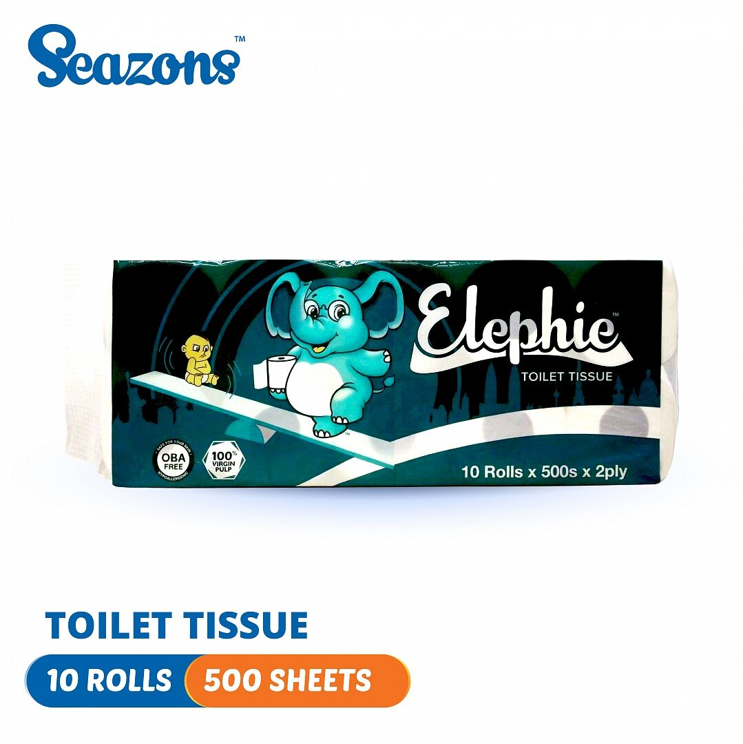 Elephie Toilet Roll (10 rolls x 500\'s)
