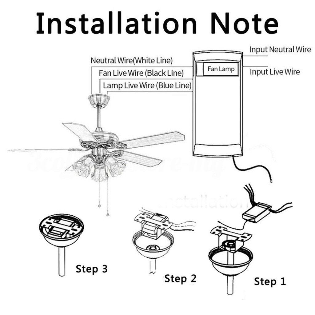 DIY Tools - Universal Ceiling Fan Lamp Remote Controller Kit+Remote Control - Home Improvement