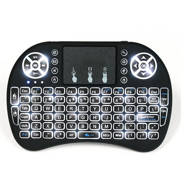 Phone Holder & Stand - MINI Keyboard Air Mouse Touchpad I8 White Backlit 2.4Ghz WIRELESS - Cases Covers