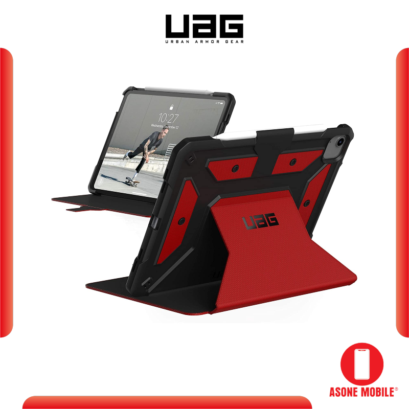 """Original UAG iPad Air 10.9"""" (4th Gen, 2020) Case Metropolis Folio Slim Heavy-Duty Tough Multi-Viewing Angles Stand Military Drop Tested Rugged Protective Cover, Black"""