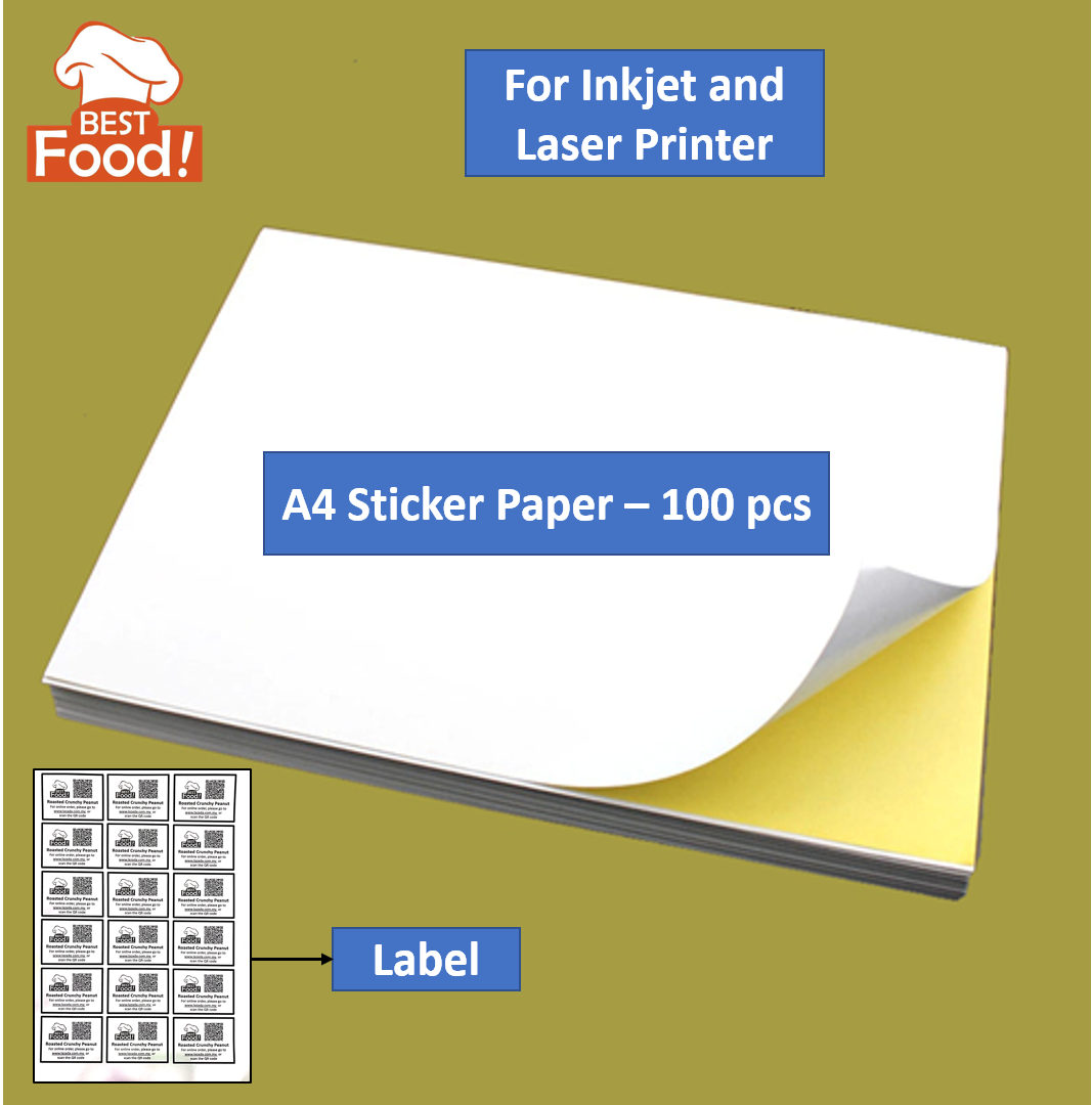 A4 Sticker Paper / Label Paper / Kertas Pelekat - 50 pcs