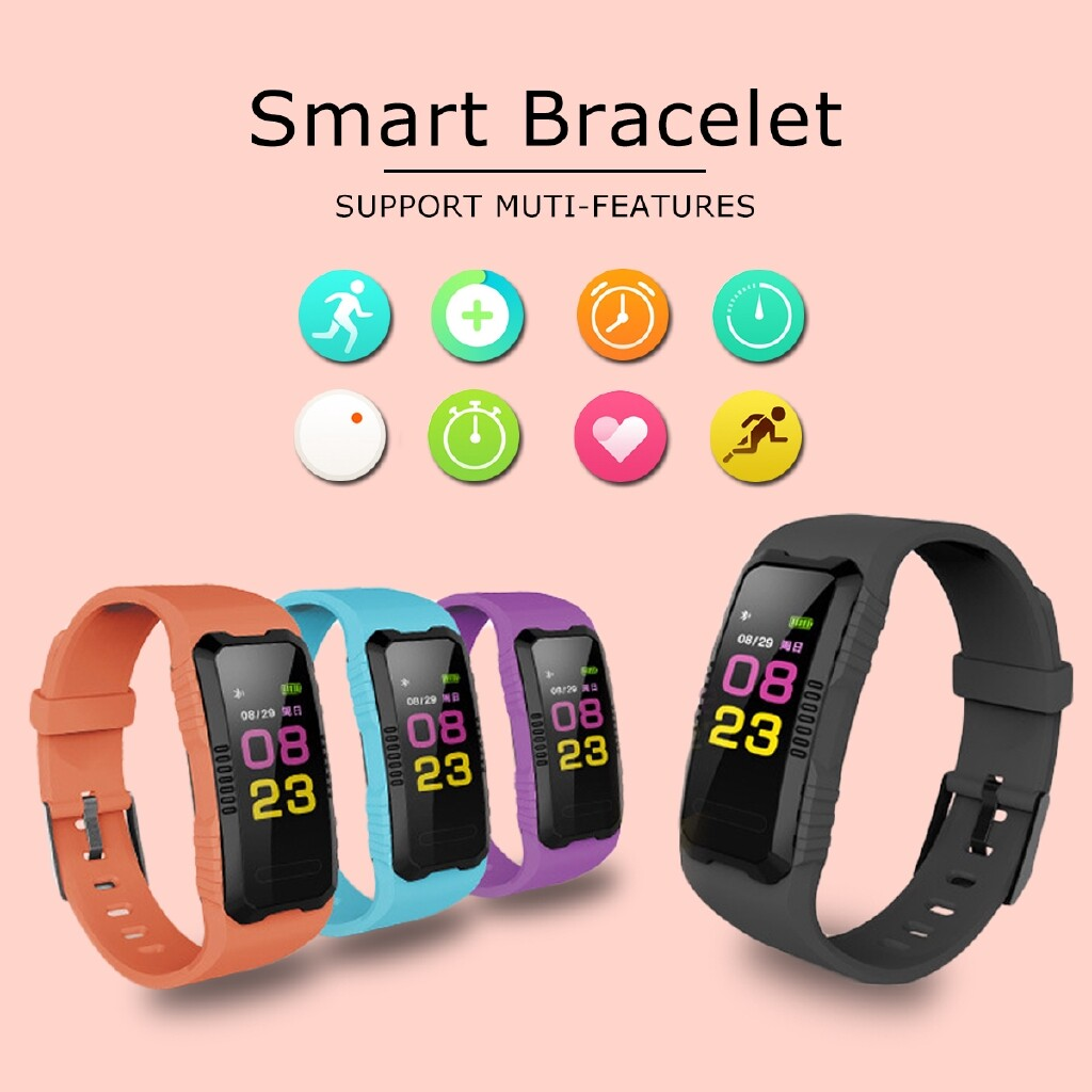 Smart Watch - Watch Smart Band Bracelet Heart Rate Fitness Tracker Wristband - PURPLE / BLACK / ORANGE / BLUE