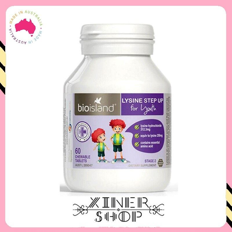 [Pre Order] Bio Island Lysine Step Up for Youth Stage 2 ( 60 tablets )( Made In Australia )