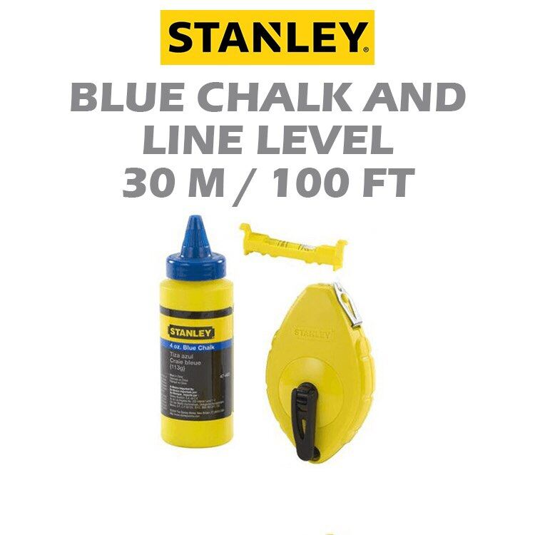 Stanley 47-443 Chalk Box Set W / Blue Chalk & Line Level