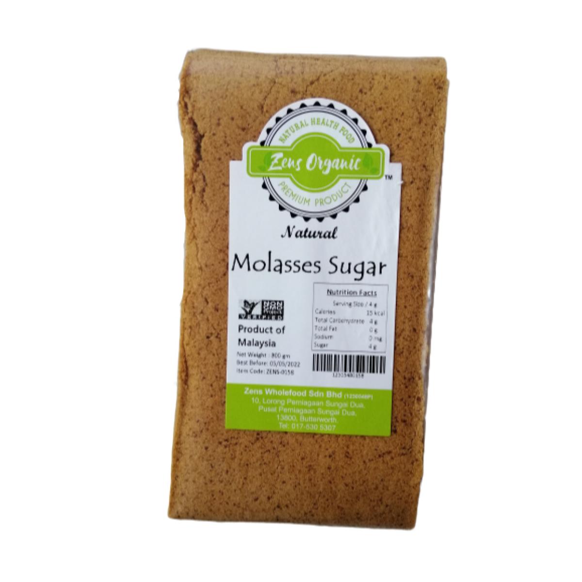Zens Organic Natural Molasses Sugar 800g