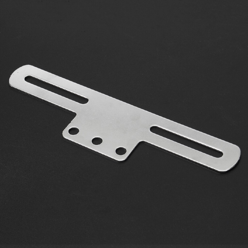 Moto Accessories - License Plate Bracket For Harley Cafe Bobber Black Silver 178x25mm - PLATING COLOR / BLACK
