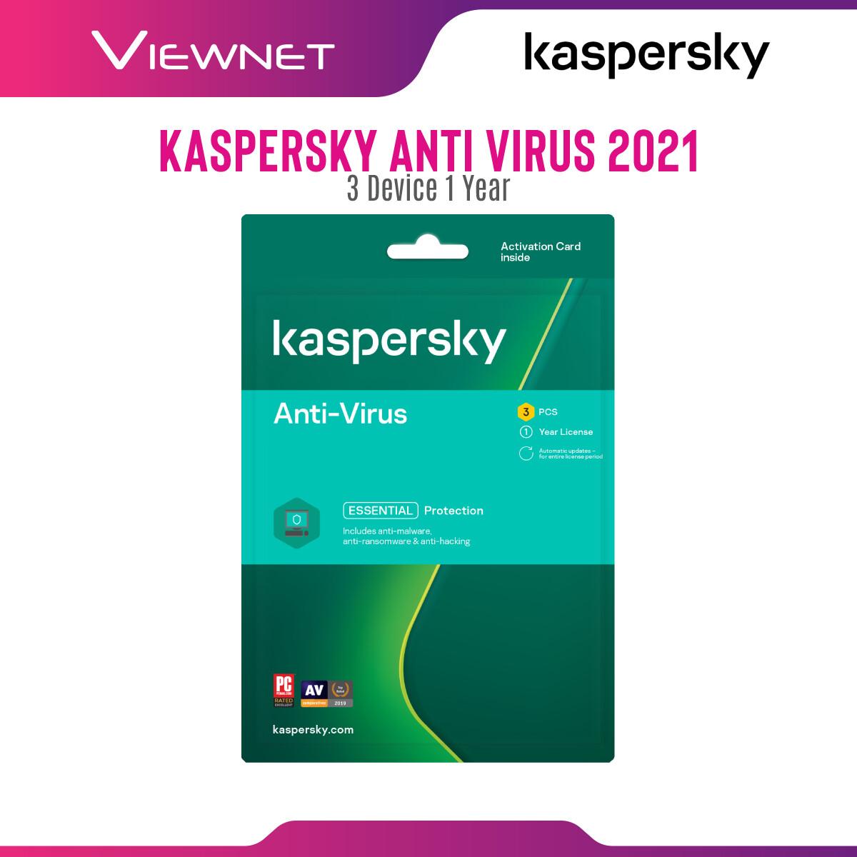 Kaspersky Anti-Virus 3 Device 1 Year License