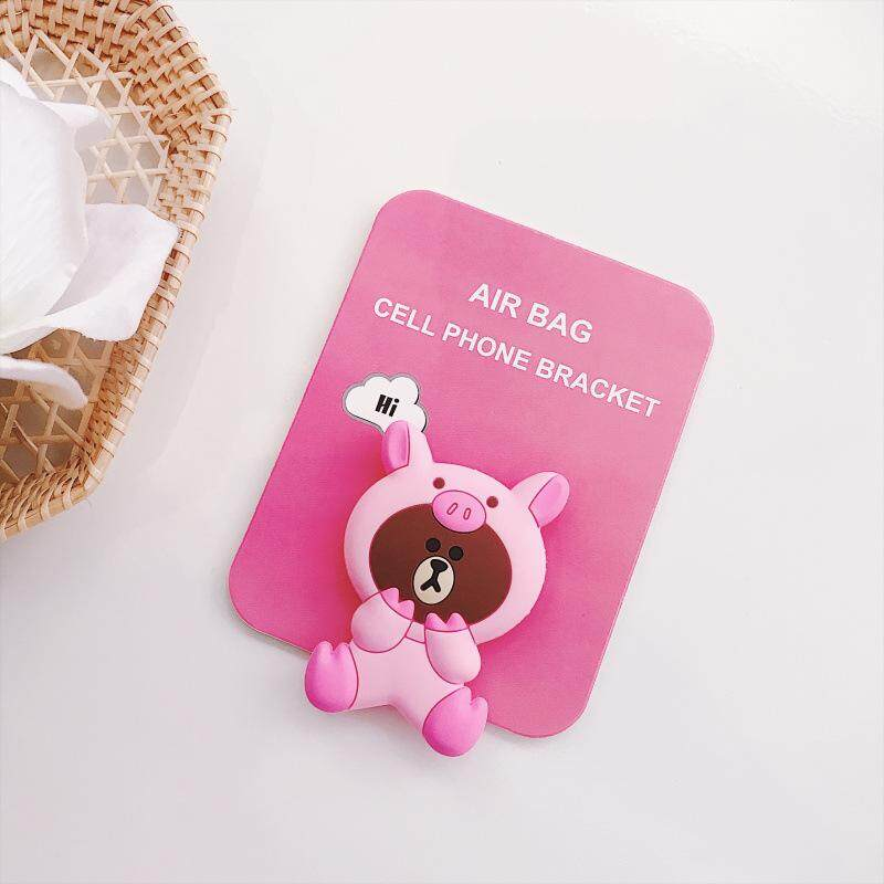 Cute Animal Pink Bear Pattern Airbag Cellphone Bracket Phone Stand Holder