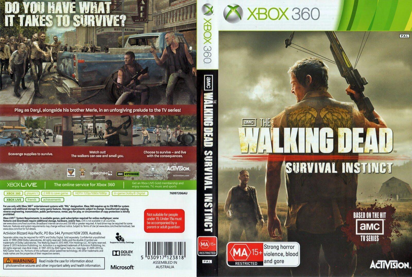 XBOX 360 The Walking Dead Survival Instinct