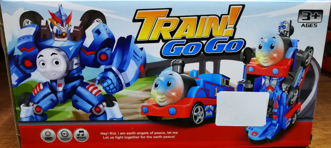 Kids Toy - Transformation Train Robot Tracks Toys Set for boys