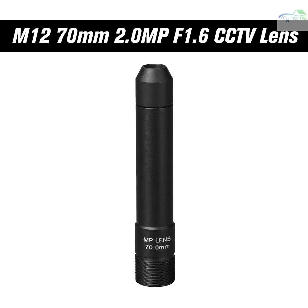 CCTV Security Cameras - HD 2.0 Megapixel 70mm Pinhole CCTV Lens M12 Mount MTV Board Lens Image Format 1 , F1.6, Fixed Iris - BLACK