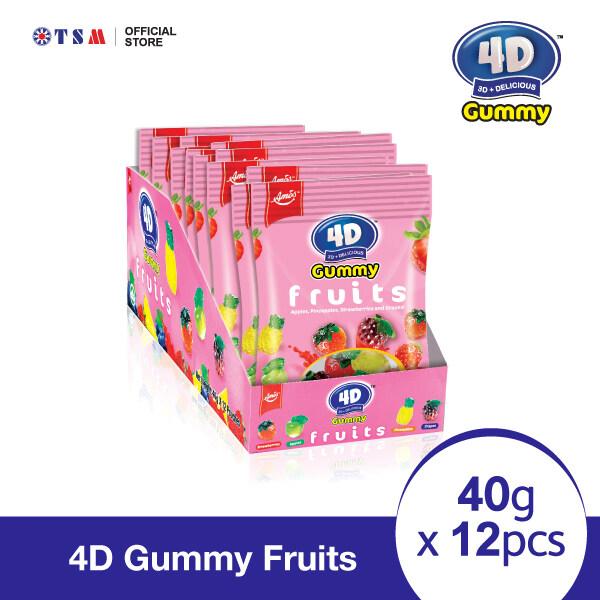 4D GUMMY FRUITS 40G X 12 PACKS