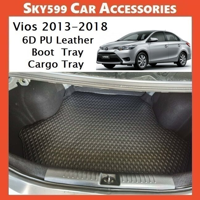 Toyota Vios 2013-2018 6D Pu Leather Boot Tray Cargo Tray