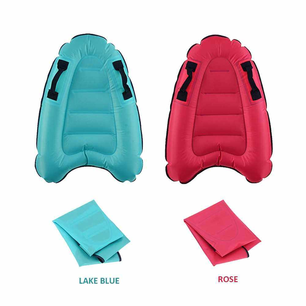 Best Selling Inflatable Surfing Board with Handles Folding Beach Surfboard Lightweight Swimming Floating Mat Devices Children's Surfboard Safety Beach Pool Toy (Rose)