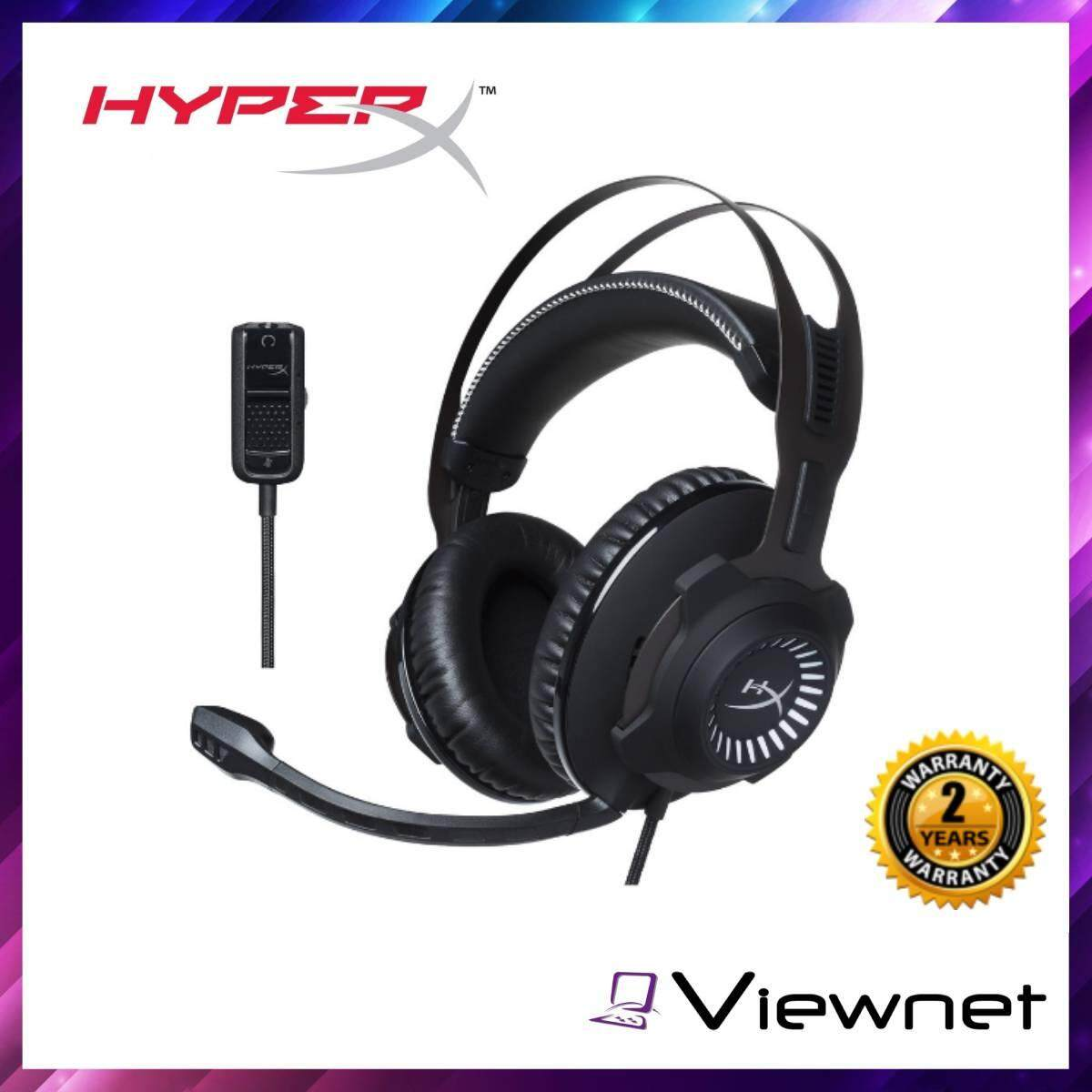 HyperX 7.1 Cloud Revolver S Headset Wired Analog 3.5MM USB Surround Sound Adapter Gaming (HX-HSCRS-GM/AS), Black, USB Audio Control Box, Solid-steel frame, Headphones