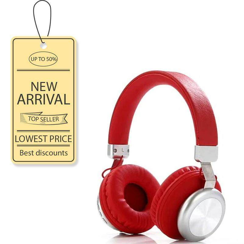 SY-BT1616 Stereo Sports Subwoofer Headset TF Card Wireless Bluetooth Headset RED