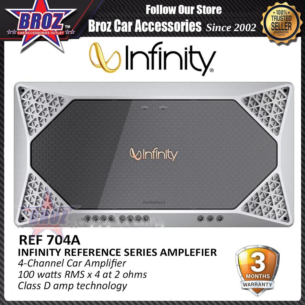 Broz Infinity Reference Series Amplifier REF-704A 4-Channel Car Amplifier