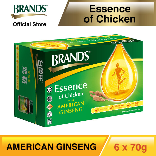 BRAND'S® Essence of Chicken with American Ginseng Single Pack (6's) - 6 bottles x 70gm
