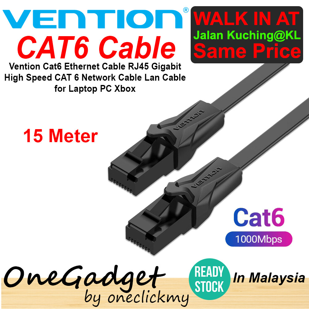 [READY STOCK]Vention Cat6 Ethernet Cable RJ45 Gigabit High Speed CAT 6 Network Cable Lan Cable for Laptop PC Xbox