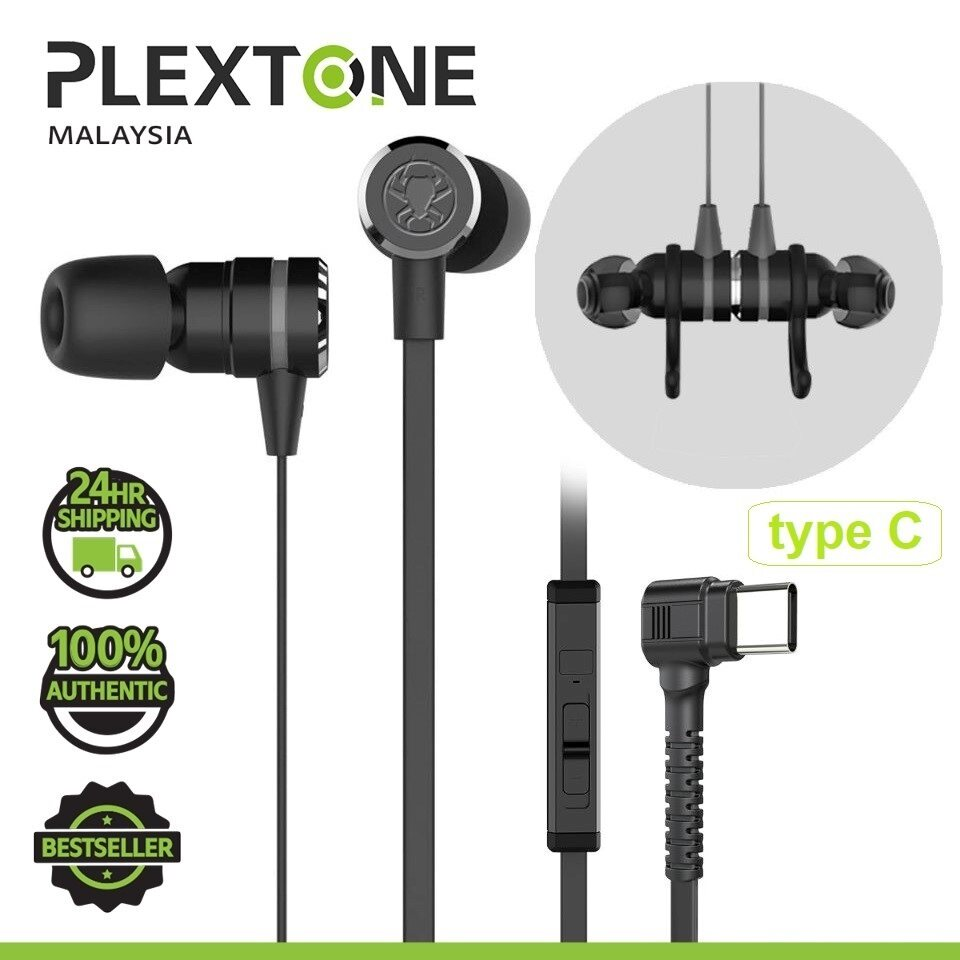 PLEXTONE G20 Type C Double Bass Magnetic Gaming Earphone Headphone Earphones Earbuds Noise Reduction Headset with Mic Sport PUBG For MOBILE PC GAMING SAMSUNG HUAWEI REALME OPPO VIVO XIAOMI
