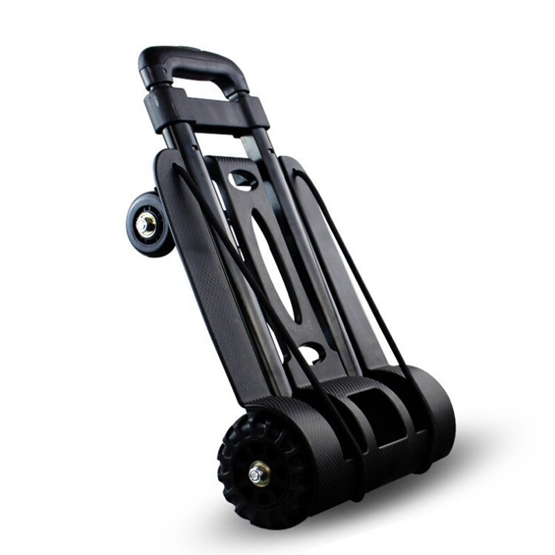 Car Lights - 75KG Cart Folding Dolly Hand Truck Push Collapsible Trolley Luggage Four-wheel - Replacement Parts