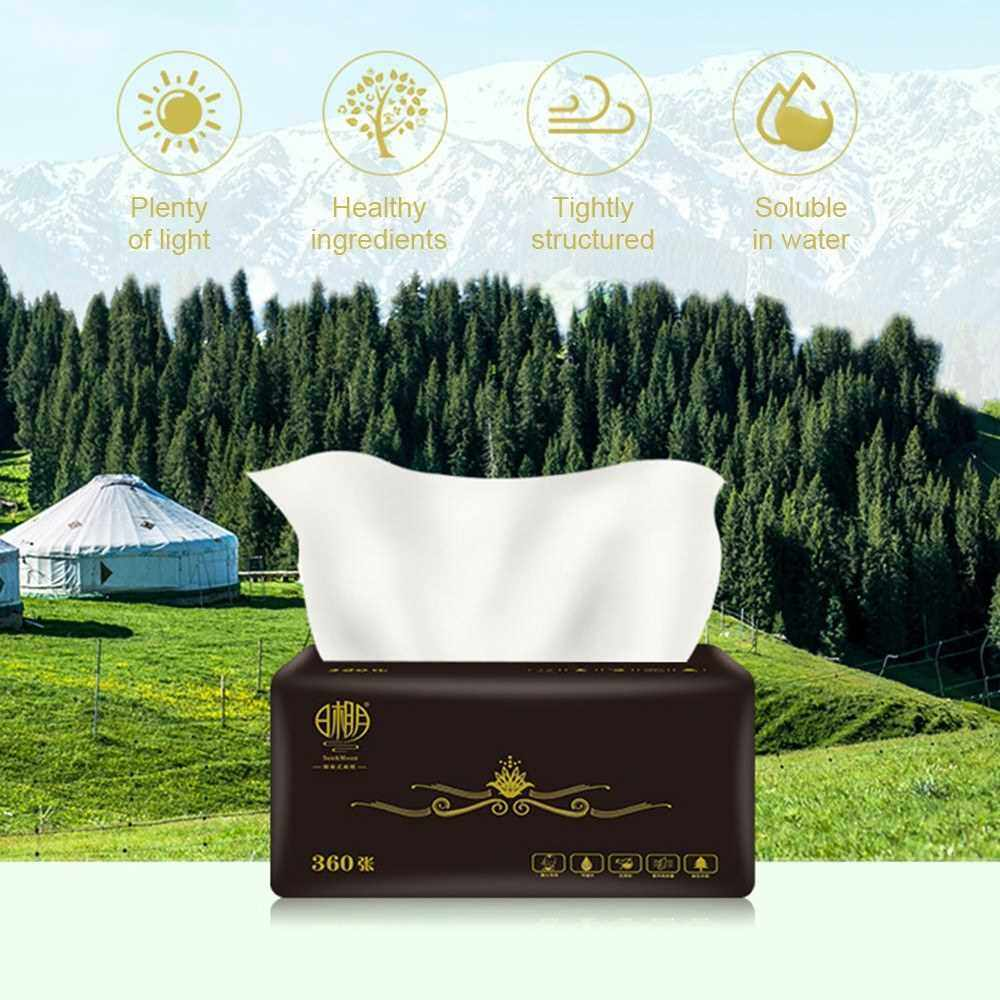 Best Selling 6Packs Natural Wood Pulp Household Napkins 3-layer Toilet Paper Towels Skin-friendly Facial Tissues (White)