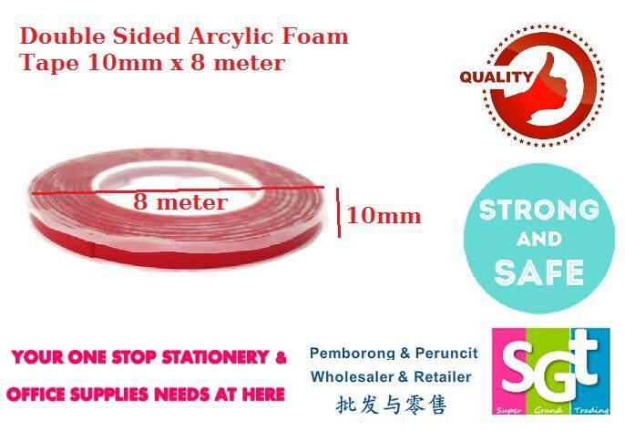 Double Sided Acrylic Foam Tape 10mm x 8m