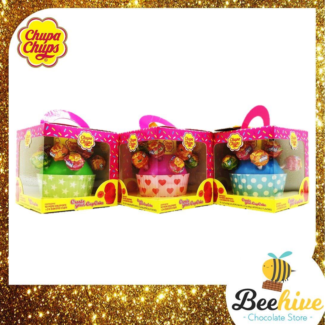 Chupa Chups Cupcakes Lollipop 10pcs + 24pcs