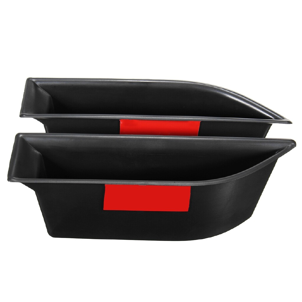 Organizers - 2x Interior Front Side Door Storage Box Holder For Peugeot 3008 GT 2016 2017 - Car Accessories
