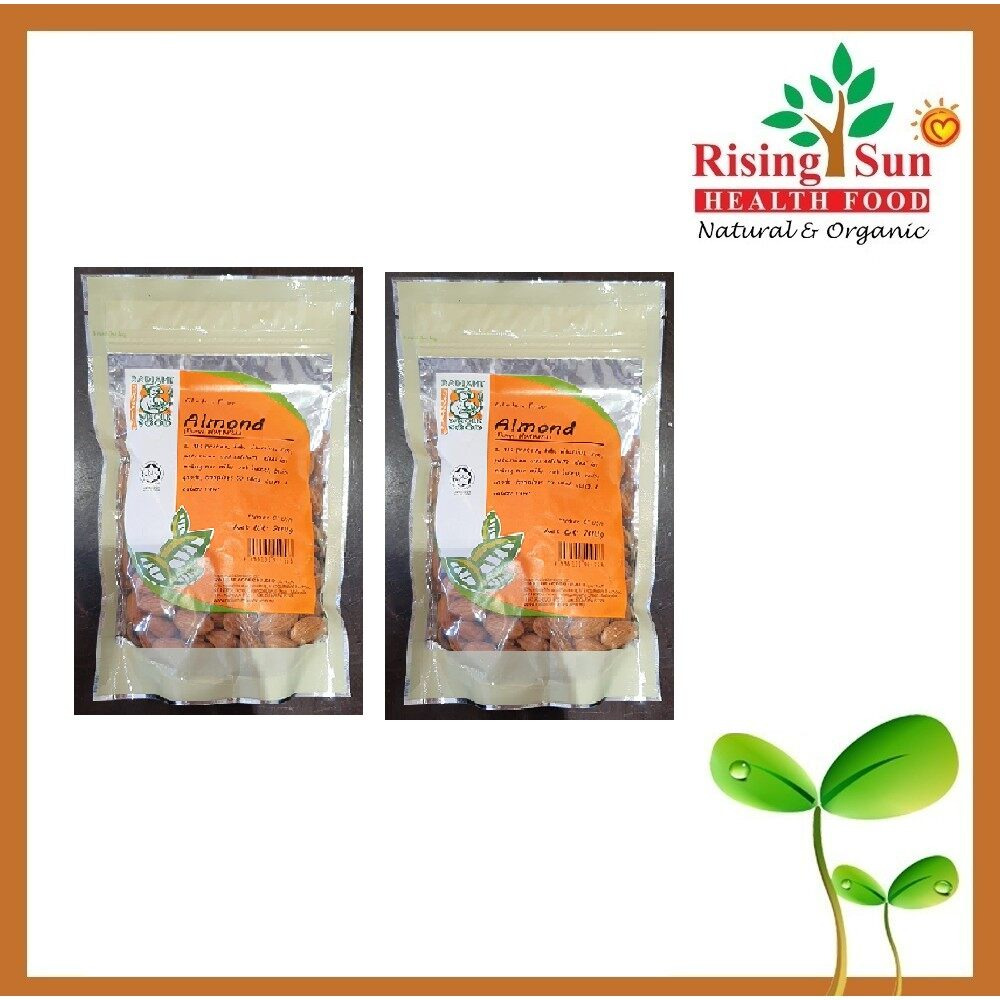 Radiant Almond Raw Natural 200G - Twin Pack