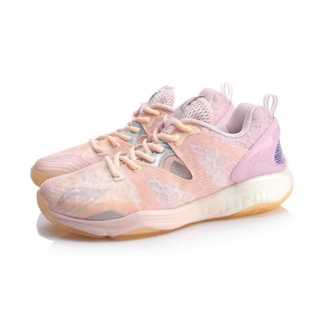 Li-Ning Gyrfalcon III Professional Women's Badminton Shoes - Pink AYAQ006-2