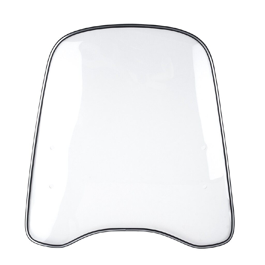 Moto Accessories - Universal Motorcycle Clear Deflector PC Windshield Windscreen - Motorcycles, Parts