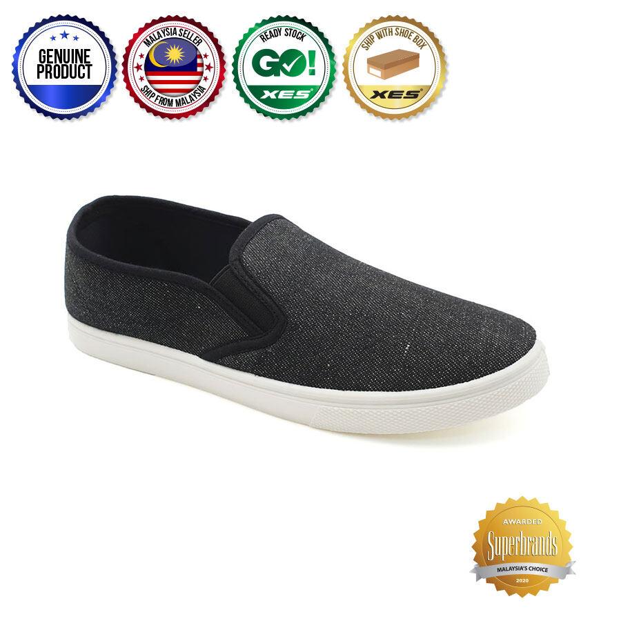 XES Men BSMCVT90 Casual Sneakers (Black Navy Blue)