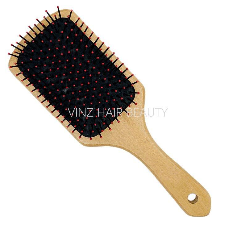 Air Paddle Brush Soft Scalp Massage Comb (Big l Red)