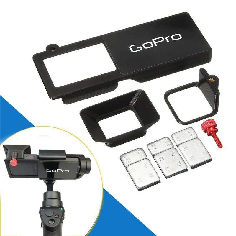 Gimbals and Stabilizers - GoPro hero 5 Adapter switch mount plate + Sun Shade for DJI OSMO MOBILE Gimbal - Camera Accessories