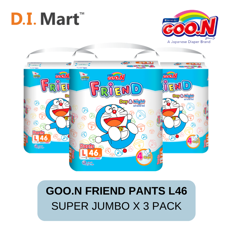 Goo.N Friend Pants Super Jumbo L Size 46pcs x3 Pack