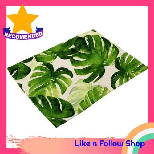 Green Plant Printed Polyester Placemat